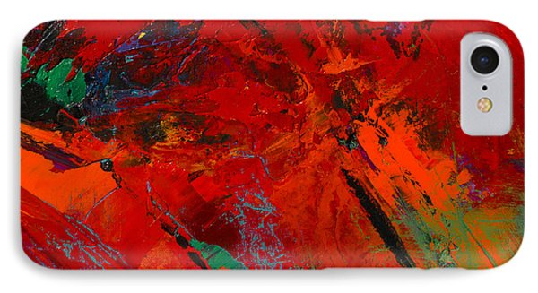 IPhone Case featuring the painting Red Mood by Elise Palmigiani