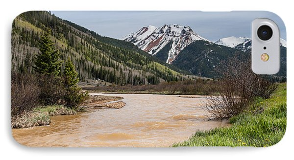 Red Mountain And Red Mountain Creek IPhone Case