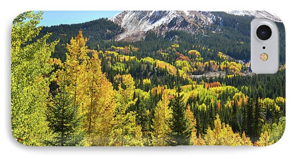 IPhone Case featuring the photograph Red Mountain Fall Color by Ray Mathis
