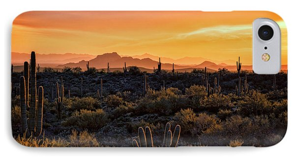 IPhone Case featuring the photograph Red Mountain Sunset Part Two  by Saija Lehtonen