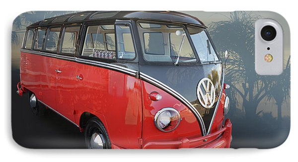IPhone Case featuring the photograph Red N Black Kombi by Bill Dutting