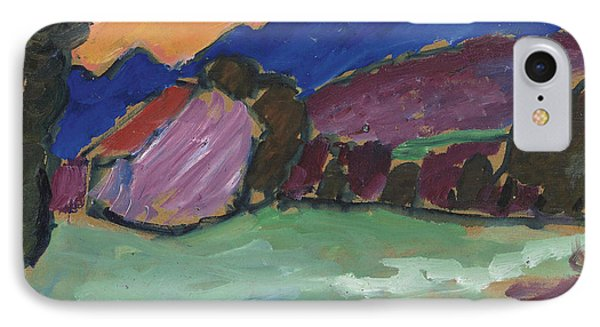 Red Night - Blue Mountains IPhone Case