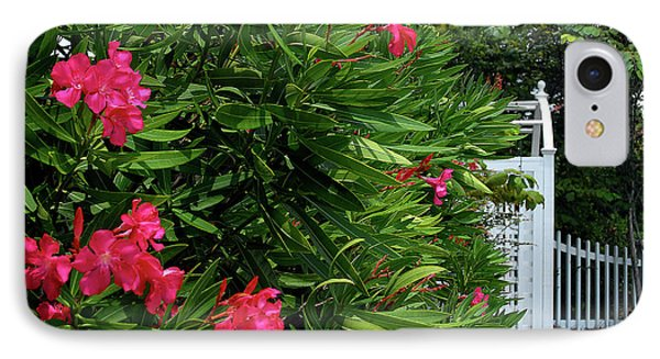 IPhone Case featuring the photograph Red Oleander Arbor by Marie Hicks