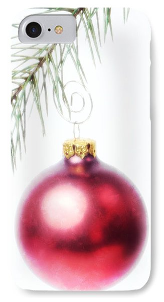 Red Ornament IPhone Case by Vicki McLead