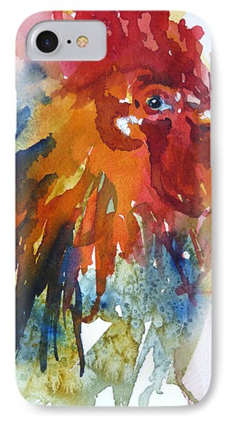 IPhone Case featuring the painting Red by P Maure Bausch