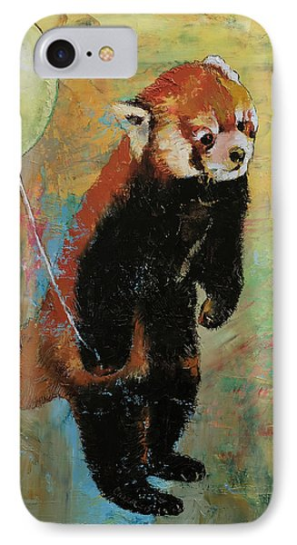 Red Panda Balloon Phone Case by Michael Creese