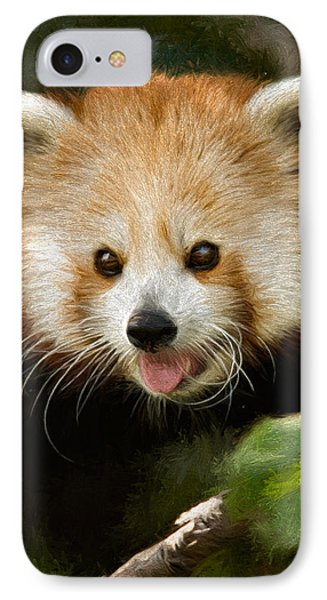 IPhone Case featuring the photograph Red Panda by Lana Trussell