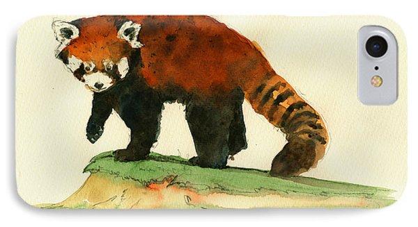 Red Panda Walk IPhone Case by Juan  Bosco