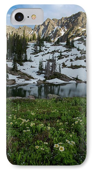 IPhone 7 Case featuring the photograph Red Peak And Willow Lake by Aaron Spong