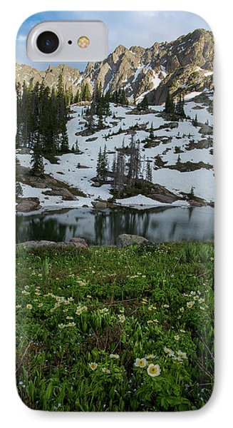 IPhone Case featuring the photograph Red Peak And Willow Lake by Aaron Spong