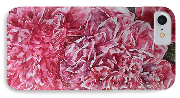 Red Peonies IPhone Case by Kim Tran