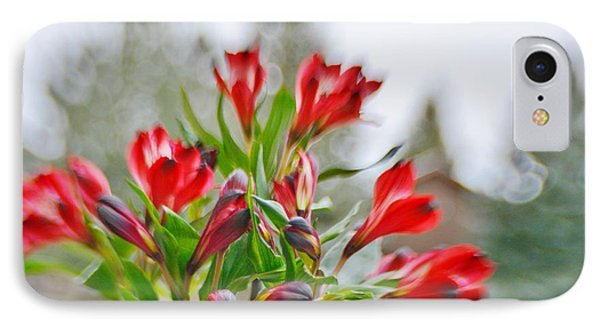 IPhone Case featuring the photograph Red Peruvian Lilies by Diane Alexander