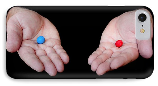 Red Pill Blue Pill Phone Case by Semmick Photo