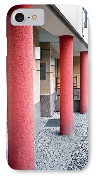 Red Pillars IPhone Case by Tom Gowanlock