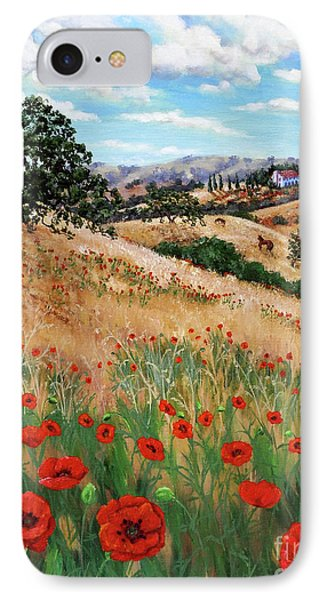Red Poppies And Wild Rye IPhone Case by Laura Iverson