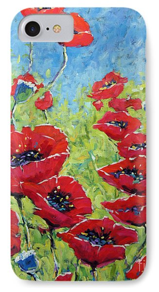 Red Poppies By Prankearts IPhone Case by Richard T Pranke