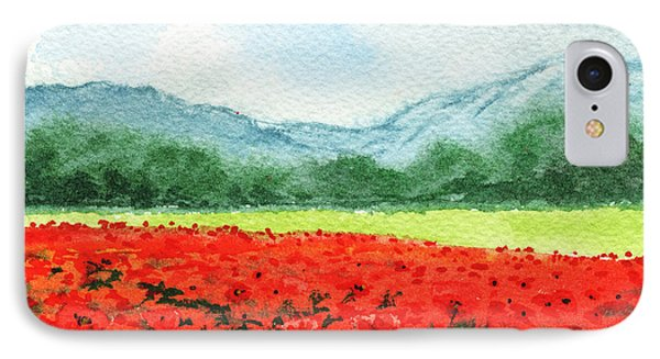 Red Poppies Field IPhone Case