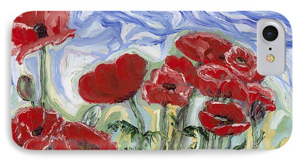 Red Poppies From Port Hardy, Bc IPhone Case by Paula Formanek