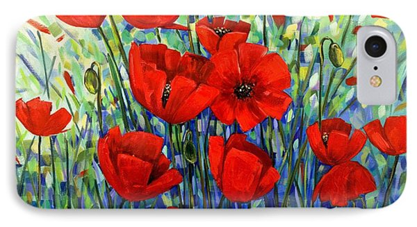 Red Poppies Phone Case by Georgia  Mansur