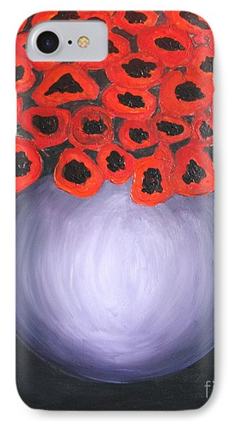 IPhone Case featuring the painting Red Poppies  by Jolanta Anna Karolska