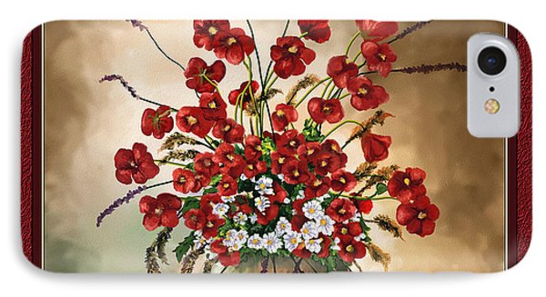 IPhone Case featuring the digital art Red Poppies by Susan Kinney
