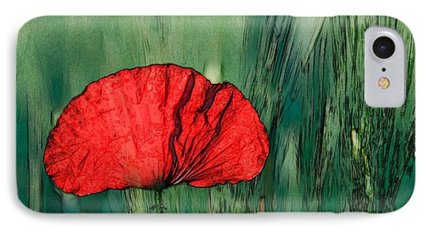 IPhone Case featuring the photograph Red Poppy Flower by Jean Bernard Roussilhe