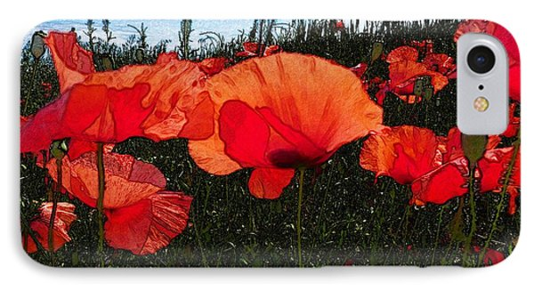 IPhone Case featuring the photograph Red Poppy Flowers In Grassland by Jean Bernard Roussilhe