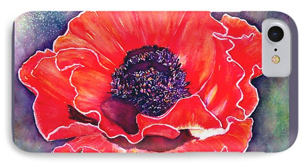 Red Poppy Phone Case by Norma Boeckler