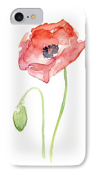 Red Poppy IPhone Case by Olga Shvartsur