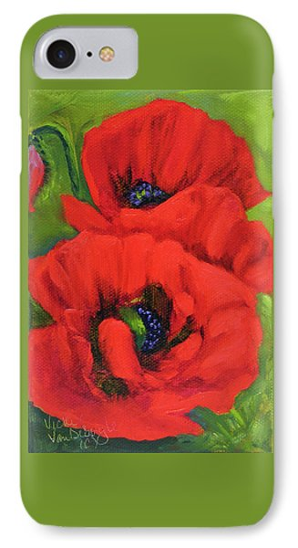 Red Poppy Seed Packet IPhone Case