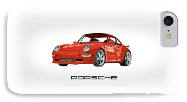 Red Porsche 993 1997 Twin Turbo R IPhone Case