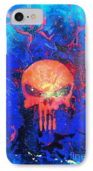 Red Punish IPhone Case by Justin Moore