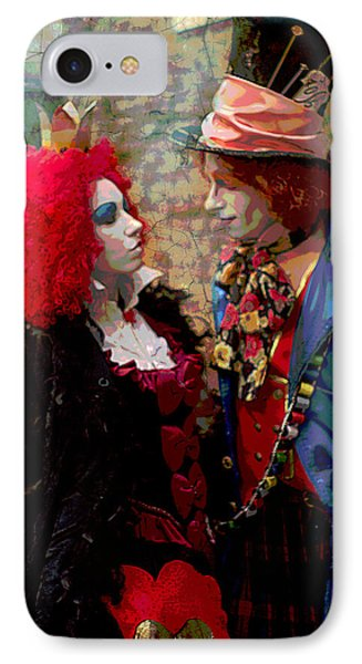 Red Queen And Mad Hatter IPhone Case by Suzanne Powers
