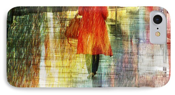 IPhone Case featuring the photograph Red Rain Day by LemonArt Photography