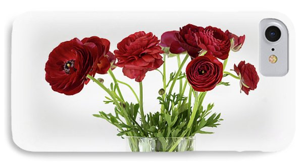 IPhone Case featuring the photograph Red Ranunculus by Kim Hojnacki