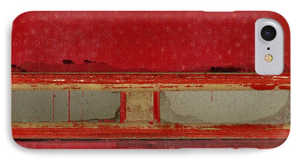 Red Riley Collage IPhone Case by Carol Leigh