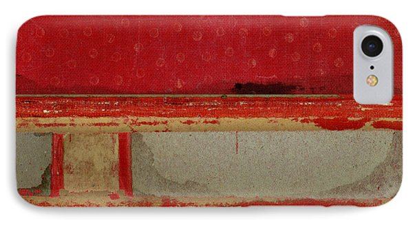 Red Riley Collage Square 3 IPhone Case by Carol Leigh