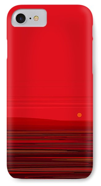 IPhone Case featuring the digital art Red Ripple II by Val Arie
