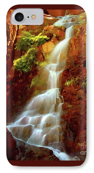 IPhone Case featuring the painting Red River Falls by Peter Piatt