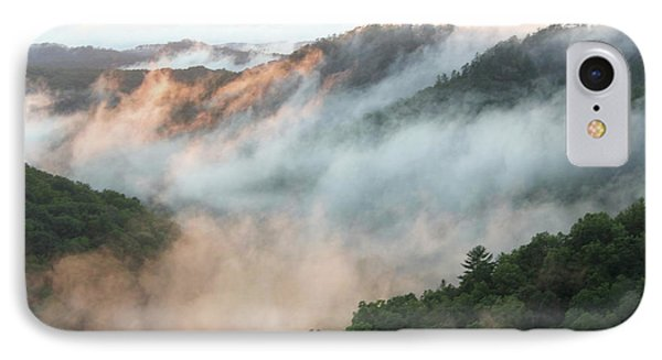 Red River Gorge Kentucky Fog In Mountains At Sunset After A Storm 2 IPhone Case