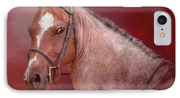Red Roan IPhone Case by Kathy Russell