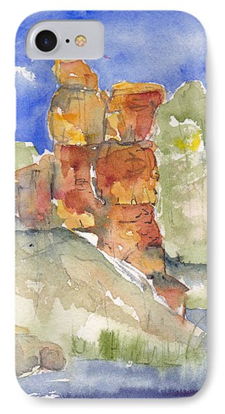 IPhone Case featuring the painting Red Rock  Canyon by Anne Duke