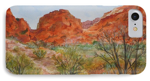 IPhone Case featuring the painting Red Rock Canyon by Vicki  Housel