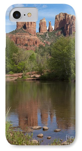 Red Rock Crossing In Sedona IPhone Case by Sandra Bronstein