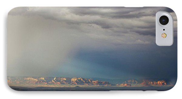 IPhone Case featuring the photograph Red Rock Monsoon by Ron Chilston