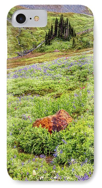 IPhone Case featuring the photograph Red Rock Of Rainier by Pierre Leclerc Photography
