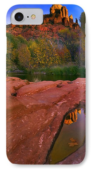 Red Rock Reflection Phone Case by Mike  Dawson