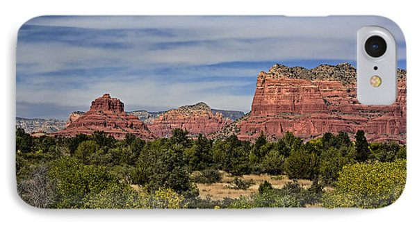 Red Rock Scenic Drive IPhone Case by John Gilbert