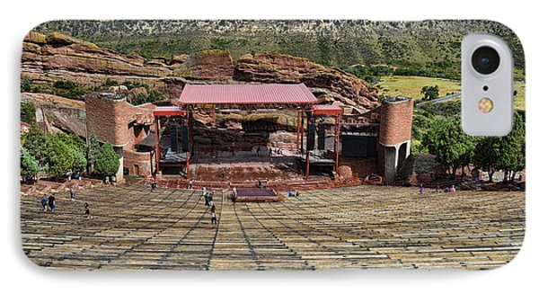 Red Rocks Ampitheatre Colorado - Photography IPhone Case by Ann Powell