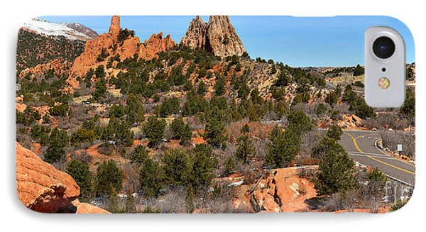 IPhone Case featuring the photograph Red Rocks At High Point by Adam Jewell